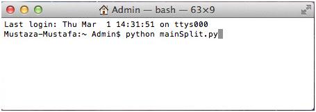 Splitting large XML file on MAC operating system