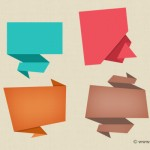 Abstract Origami Speech Bubble Icon PSD
