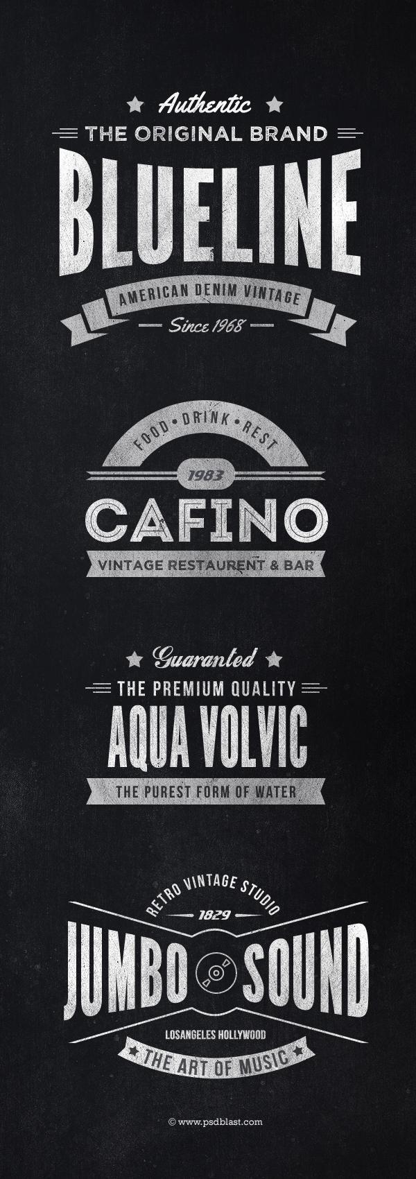 Premium quality vintage monochromatic insignias