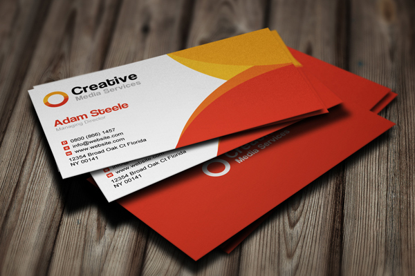 30 business card psd templates psdblast creative media business cards in 2 colors colourmoves
