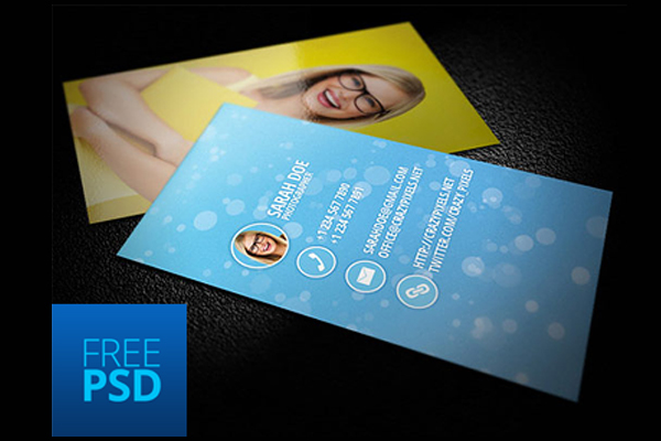 30 business card psd templates psdblast free photographer card template cheaphphosting Choice Image