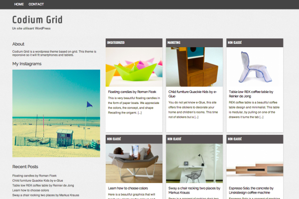 Codium Grid - Grid base WordPress Theme