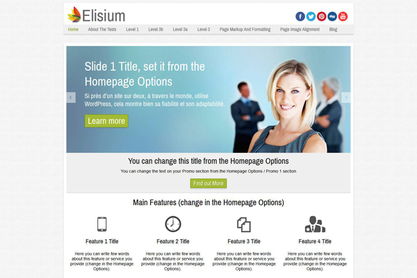 Elisium - Freee responsive theme for business site