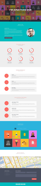 flato  u2013 responsive online cv  u0026 resume templates