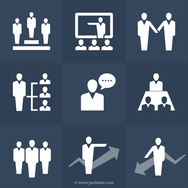 Human Resource Icon PSD