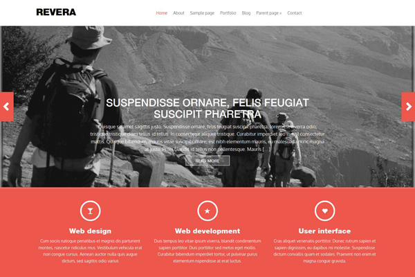 Revera - Bootstrap 3 framework responsive wordpress theme