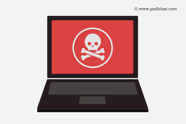 Online scam icon PSD