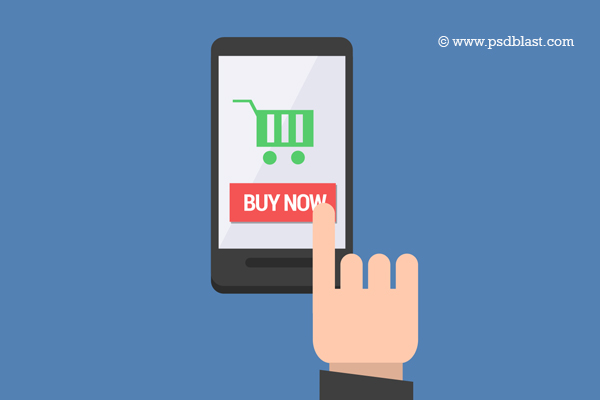 Mobile Shopping Icon PSD