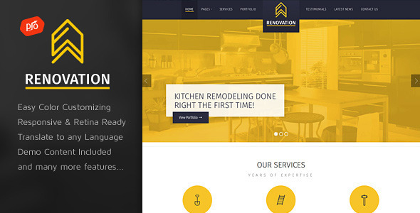 Renovation Construction Company Theme