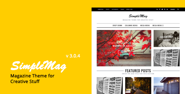 SimpleMag Magazine theme for creative stuff