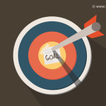 Dart On Target Icon, Business Goal Icon (PSD)