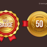 Gold Badges PSD