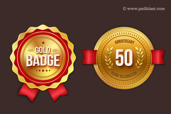 Gold Badge PSD