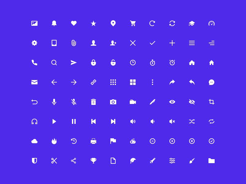 80 UI Icons PSD