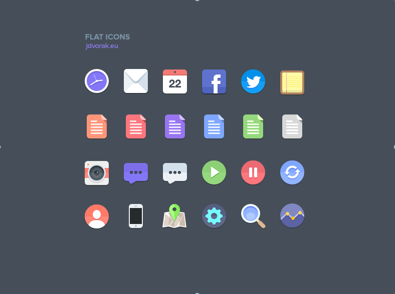 Flat PSD Icon Set