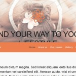 "Free Responsive Wordpress Theme ""Kundalini Yoga Club"""