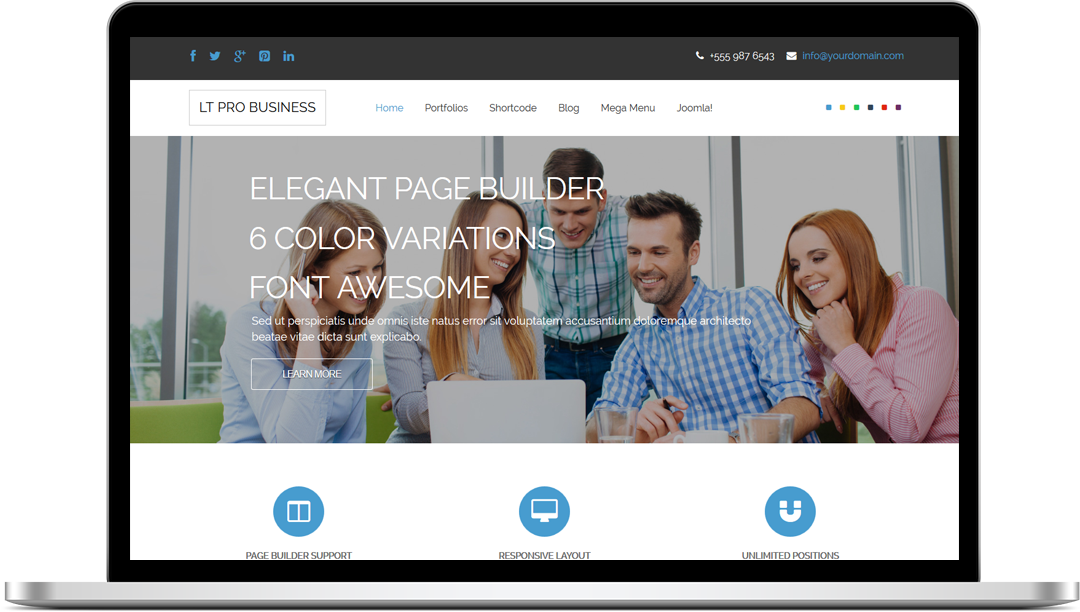"Free Responsive Business WordPress Theme ""LT Pro Business"""