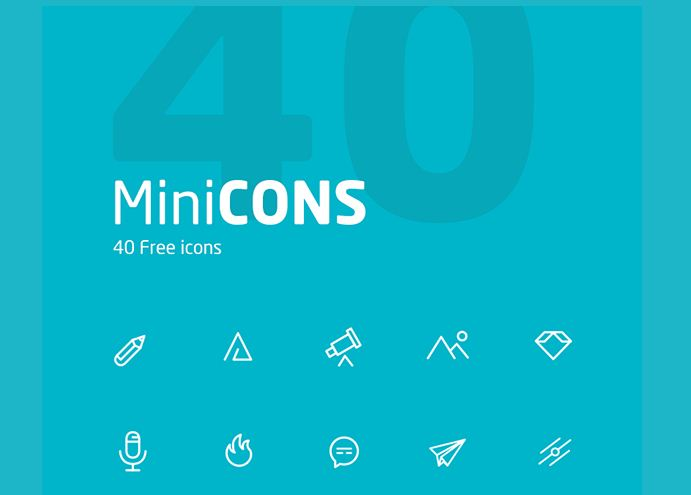 40 MiniCons Icon Set PSD