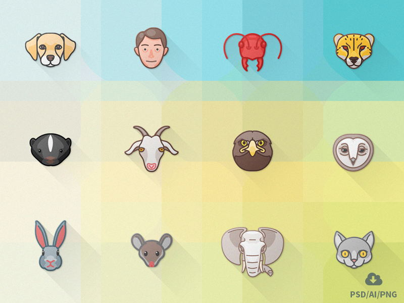 Free 24 Animal Attributes Icon Set