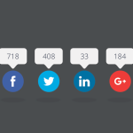 Free Social Share Buttons PSD