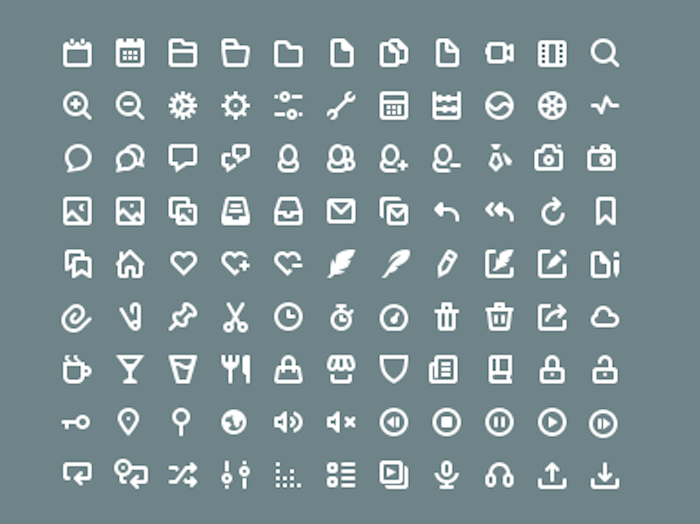 99 Free Icons PSD