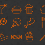 16 Food Icons PSD