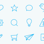 74 Flat Icon Set PSD