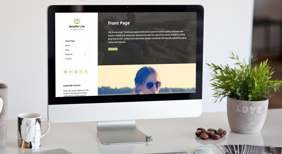 Free Responsive Blogging WordPress Theme – Amalie Lite