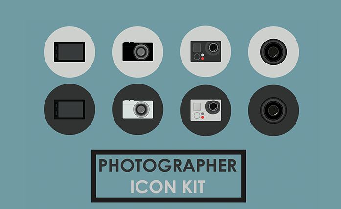 Free PSD Photography Icons