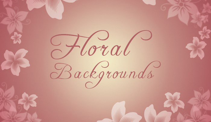 5 Free Floral Backgrounds