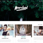 "Free Responsive Personal Blog Wordpress Theme ""Neverland"""
