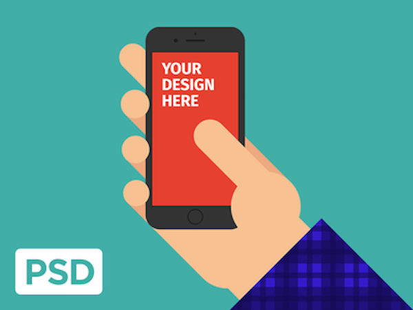 Free iPhone 6s in Hand PSD