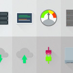 12 Server Hosting Material Design Icons PSD