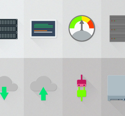 12 Server Hosting Material Design Icons (PSD)