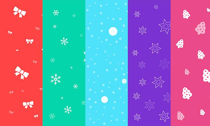 5 Free Seamless Christmas Backgrounds