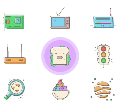 40 Free Happycons Icon Set