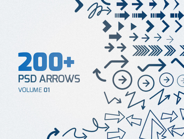 200+ PSD Arrows