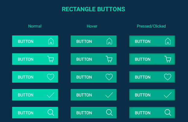 Free Flat Buttons Set PSD