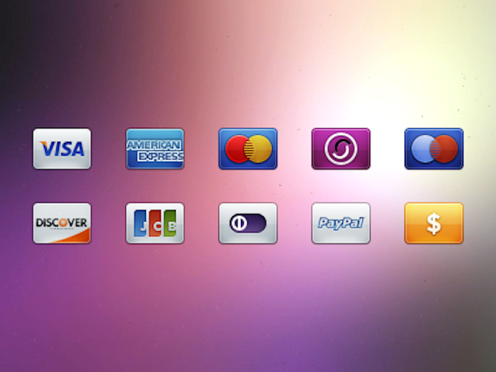 Credit Card Payment Icons PSD