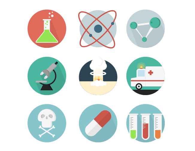 20 Free Science Icons Set