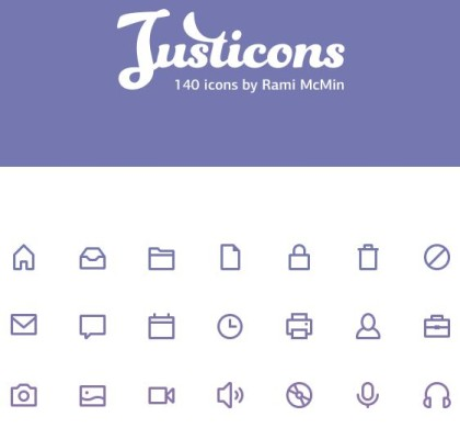 Free 140 Justicons Stroke Icons PSD