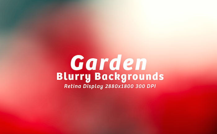 15 Free Garden Blurred Backgrounds PSD