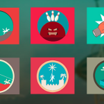 15 Circus Themed Flat Icons PSD