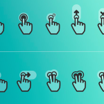 60 Free Flat Gesture Icons