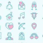 Free Love and Wedding Icons