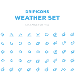 Free Dripicons Weather Icons PSD
