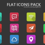 12 Free Flat Icons Pack PSD