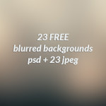23 Free Blurred Backgrounds (PSD)