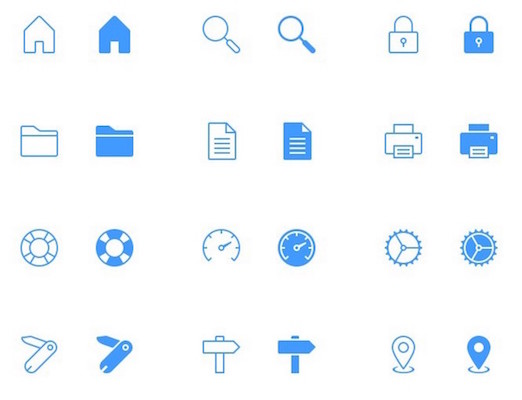 40 Free Tab Bar Icons for iPhone and iPad PSD
