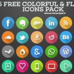 105 Colorful Flat Icons PSD